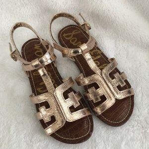 NEW Sam Edelman Gigi Cara Rose Gold Glitter Sandal